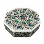12 Marquetry Malachite Lapis Inlay Marble Jewelry Trinket Box Parrot Gift Bk1