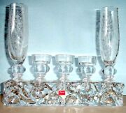 Baccarat Forest Of Dreams Crystal Vase And Candle Holders 6 Pc. Marcel Wanders New
