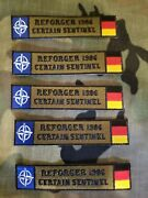 Reforger 1986 Certain Sentinel 4 Embroidered Patch