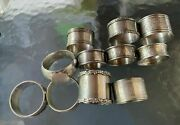 Collection Of Antique Victorian Sterling And Other Silver Napkin Rings