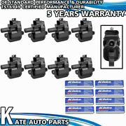 8 Uf192 Ignition Coils + 8 Acdelco 41-110 Spark Plugs For Chevrolet 5.7l V8