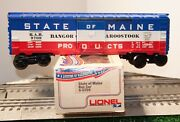 Lionel Nos 9709 State Of Maine Boxcar In A Banner Box-very Hard To Find