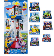 Paw Patrol My Size Lookout Tower W/ 8 Vehicle Playsets Complete Set New