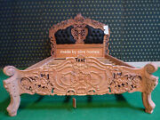 Uk Stock 4and0396 Unpainted Raw Natural French Style Rococo Bed Top Quality