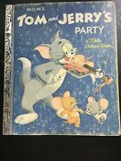 Tom And Jerrys Party Mgms A Little Golden Book 1955 Edition 1982 Coupon In Back
