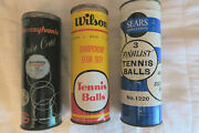 Tennis Ball Cans, Vintage Tenis Ball Cans, Collectible Tennis