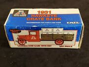 1931 Ertl Hawkeye Big And039aand039 Auto Parts Crate Truck/bank 134 Die-cast