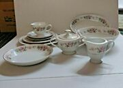 81 Piece Sone China Dishes Set- Spring Breeze 3304 Service For 12+ Xtra Pieces