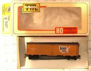 Train Miniature Tmi Ho Scale 8126 Mid States Packers 40 Ton All Steel Reefer Ob
