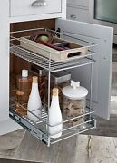 Closetmaid Wide 2-tier Kitchen Cabinet Pull-out Basket Chorme 11.5 Inches