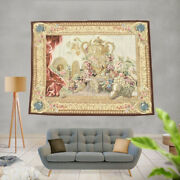 Vintage Stunning French Tapestry Handmade Tapestry Amazing Wall Hanging 5x6 Ft