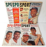Lot Of 9 1962 Sport Magazine Back Issues Vintage Mantle Brown Mays Aaron Maris