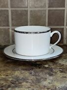 Kate Spade Ny Sugar Pointe Cup And Saucer 2 Pc Place Setting 12 Piece For 6 Nwt