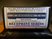 Branchline Ho Scale Baltimore And Ohio Hwt 12-1 Sleeper