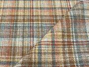 Mulberry Wool Check Plaid Upholstery Fabric- Mull / Russet 1.20 Yd Fd750.v55