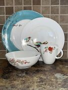 Lenox Simply Fine Chirp 4 Piece Place Setting Nwt
