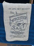 Worcester Salt Co Cloth Store Food Salt Bag 25 Lbs Silver Springs Ny And Mich