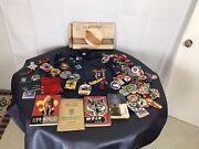 Boy Scout Cub Scout Items 100+ Patches Chukka Pins Books Shirt
