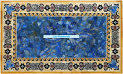 4and039x2and039 Marble Dining Coffee Blue Lapis Malachite Table Top Semi Stone Inlay