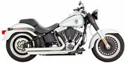 Vance And Hines Big Shots Staggered Exhaust Chrome For 88-17 Harley Flstc