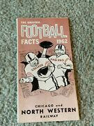 1962 Chicago And North Western Railway Football Schedule Booklet Nfl Afl Ncaa