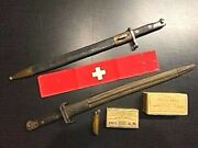 1800and039s - 1900and039s Bayonets + Ww I Swiss Arm Band Originals