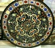 42 Black Marble Table Top Dining Center Inlay Lapis Mosaic Home Decor G767