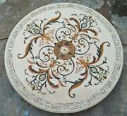 42 White Marble Table Top Dining Coffee Room Decor Inlay Malachite B10
