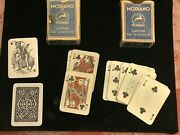 2 Sets Of Vintage Micro Sized Modiano - Italian Playing Cards Early 19th C.