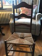 Antique Walnut Ladder Back Childs Chair Shaker Style