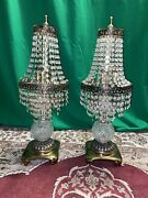 Vintage Crystal Styled Table Lamp Chandelier Styled
