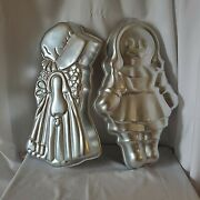 Lot Of 2 Wilton Holly Hobby Doll Raggedy Ann Cake Pans Molds Vintage