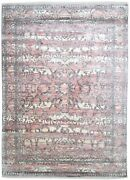 Silk Pink Rug 9and039 X 12and039 Modern Hand Knotted Bohemian Oriental Large Carpet