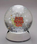 Dept. 56 Peanuts Snoopy Water Dazzler Light Up Battery Operated Snow Globe New