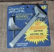 Vintage 1969 Wilkinson Sword Bonded Shaving System Canadian Issue New Old Stock