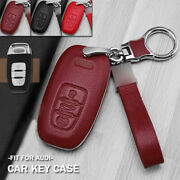 Genuine Leather Abs Car Key Fob Case Holder Bag For Audi A3 A4 A5 A6 A7 A8 S4 S6
