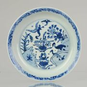 Antique Chinese Porcelain 17th Century Dish Goose Geese Wanli Or Ming Tianqi