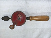 Vintage Eggbeater Hand Drill Defiance Stanley Usa Tool Carpenter Wood Working