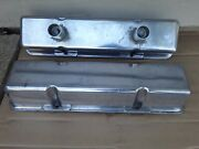 Small Block Chevrolet Aluminum Valve Covers With Breather Tubes