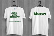 Alive With Pleasure Newport Cigarettes Ringer Tee Shirt
