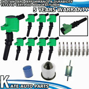 Fd503 Green Ignition Coil + Ngk Spark Plugs Tune Up Kit For Ford Mustang 4.6l V8