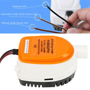 1100gph 12v Diving Submersible Electric Automatic Extremely Efficient Bilge Pump