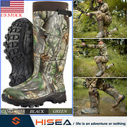 Hisea Menand039s Boots Neoprene Insulated Hunting Boots Rain Snow Muck Working Boots