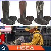 Hisea Menand039s Boots Outdoor Insulated Neoprene Rubber Mud Rain Snow Working Boots