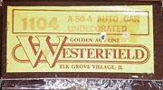 Westerfield 1104 A-50-4 Auto Car Kit Undecorated