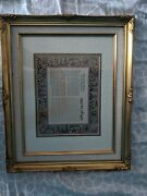 Maimonides Prayer For The Physician Jewish Doctor Hebrew English Gold Frame New