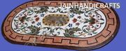 4and039x2and039 White Marble Dining Coffee Table Top Inlay Malachite Lapis Decor W164