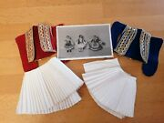Greek Traditional Souvenir Dolls Tsolias Photo Two Costume Parts Old Antique