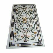 4and039x2and039 White Marble Table Top Dining Center Room Decor Inlay Malachite S13