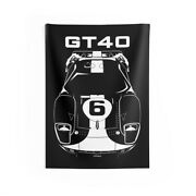 Ford Gt40 Gulf Edition - Wall Tapestry - Garage Wall Art - American Cars Art